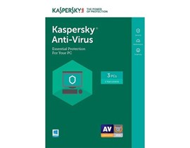 Kaspersky Lab Anti Virus 2019 for 3 Users 1 Year MSB