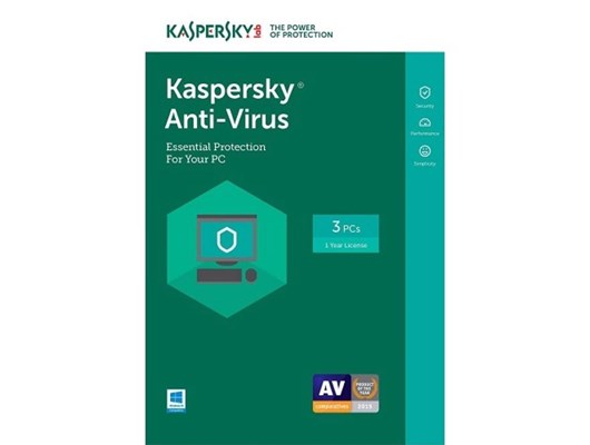 Kaspersky Lab Anti Virus 2019 for 3 Users 1 Year FFP