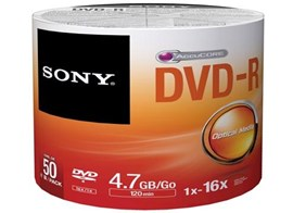 Sony DVD-R 4.7 GB (120min) 16x (Pack of 50)