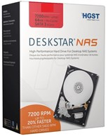 HGST Deskstar NAS (4TB) Hard Drive 7200rpm SATA 6Gb/s Interface 64MB Data Buffer