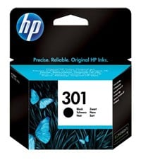 HP 301 (Yield: 190 Pages) Black Ink Cartridge