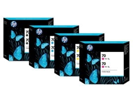 HP 70 Light Cyan Colour Ink Cartridge (130ml) with Vivera Ink