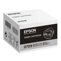 Epson 0709 Standard Capacity Black Toner Cartridge (Yield 2500 Pages) for WorkForce AL-M200 Series/AL-MX200 Series Mono Laser Printers