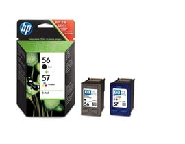 HP 56/57 (Yield: 520 Black/500 Colour Pages) Black/Cyan/Magenta/Yellow Ink Cartridge Pack of 2
