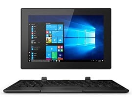 Lenovo Tablet 10 (10.1 inch Multi-Touch) Tablet PC Celeron (N4100) 1.1GHz 4GB 64GB eMMC WLAN BT Webcam Windows 10 Pro 64-bit (Integrated Intel UHD Graphics 600) Black