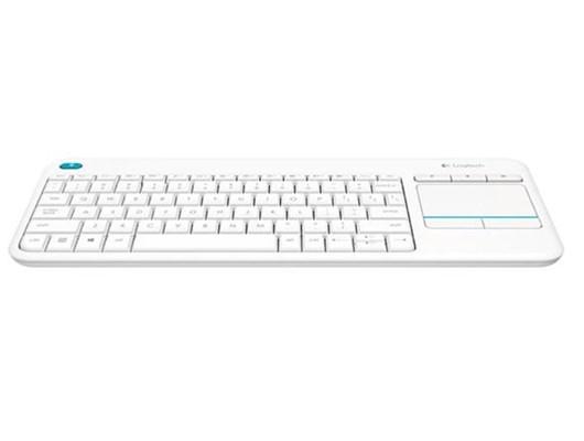 Details about Logitech K400 Plus Wireless Keyboard with Touchpad (White) -  UK English