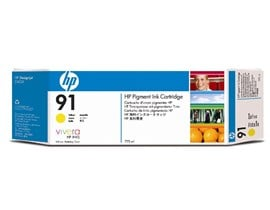 HP 91 Ink Cartridge (775 ml) with Vivera Ink (Yellow)