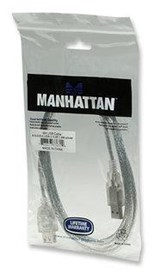 Manhattan Hi-Speed USB Extension Cable (1.8m) A Male / A Female (Silver)