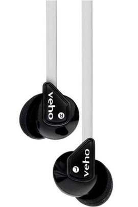 Veho Z-1 Stereo Noise Isolating Earphones (Black/White)