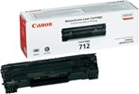 Canon 712 (Black) Toner Cartridge (Yield 1,500 Pages)
