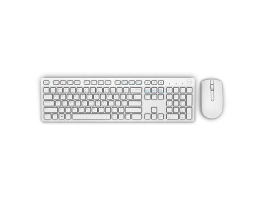 Dell KM636 Wireless Keyboard and Mouse Set UK QWERTY (White)