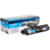 Brother TN-326C (Yield: 3,500 Pages) Cyan Toner Cartridge
