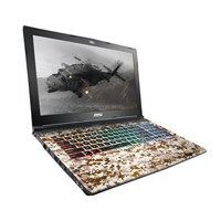 MSI GE62VR 7RF CAMO SQUAD Limited Edition (15.6 inch) Gaming Notebook Core i7 (7700HQ) 32GB 1x 2.5 SATA HDD DVD Super Multi LAN WLAN BT Windows 10 Home/Pro (GeForce GTX 1060 3/6GB GDDR5)