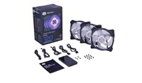 Cooler Master MasterFan Pro 120 Air Pressure RGB Cooling Fans (Triple Pack) with RGB LED Controller