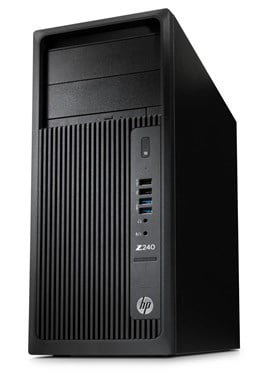 HP Z240 Tower Workstation Core i7 (6700) 3.4GHz 16GB 512GB SSD DVD Writer LAN Windows 7 Pro 64-bit+Media Upgrade to Windows 10 Pro (HD Graphics 530)