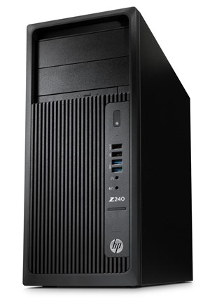 HP Z240 Tower Workstation Xeon E3 (1245 v5) 3.5GHz 8GB 1TB DVD Writer LAN Windows 7 Pro 64-bit+Media Upgrade to Windows 10 Pro (HD Graphics P530)