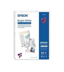 Epson (A4) 90g/m2 Inkjet Paper (Bright White) 1 Pack of 500 Sheets