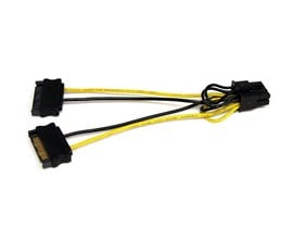 StarTech.com 6 inch SATA Power to 8 Pin PCI Express Video Card Power Cable Adaptor