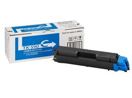 Kyocera TK-590C Cyan (Yield 5,000 pages) Microfine Toner Cartridge for FS-C2026MFP/FS-C2126MFP