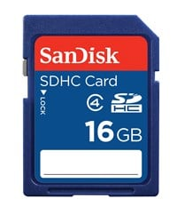 SanDisk Standard SDHC (16GB) Memory Card (Class 4)