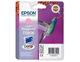 Epson Hummingbird T0806 (Yield: 590 Pages) Light Magenta Ink Cartridge