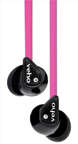 Veho Z-1 360 Noise Isolating Stereo Earphones - Pink