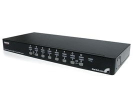 StarTech.com 16 Port 1U Rack Mount USB KVM Switch Kit with OSD and Cables