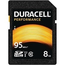 Duracell Performance 8GB UHS-1 (U1) SD Card