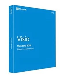 Microsoft Visio Standard 2016 (Medialess) - 1 Licence