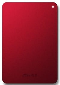 Buffalo MiniStation Safe 1TB Mobile External Hard Drive in Red