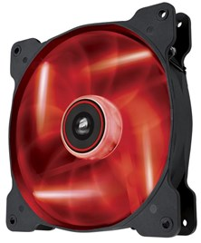 Corsair Air Series AF140 LED Red Quiet Edition High Airflow 140mm Fan Single Fan