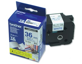 Brother P-touch TZe-263 (36mm x 8m) Blue On White Laminated Labelling Tape