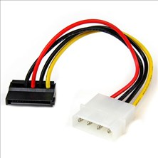 StarTech.com 6 inch 4 Pin Molex to Left Angle SATA Power Cable Adapter