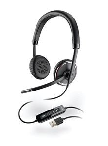 Plantronics Blackwire C520-M Over-the Head Binaural Stereo Headset (Microsoft Lync) with Microphone