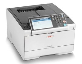 OKI C542DN (7-inch LCD Touch) A4 Workgroup Colour Printer (Duplex, Networked) 1GB 3GB eMMC 1200x1200dpi 30ppm 350 Sheets USB/Ethernet (PCL6, PCL5c, PS3, PDF v1.7, SIDM (IBM-PPR, EPSON-FX), XPS) - 2AC