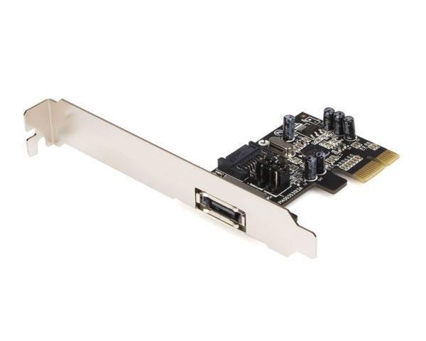 StarTech.com 1 Port PCI Express eSATA Controller Card Storage ...