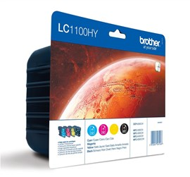 Brother LC1100VALBP Value Blister Pack Ink Cartridges (Cyan/Magenta/Yellow/Black)