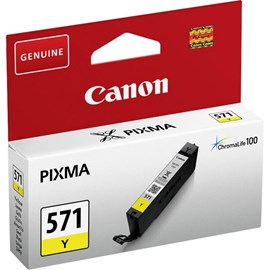 Canon CLI-571Y (Yield: 347 Pages) Yellow Ink Cartridge