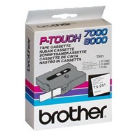 Brother P-touch TX-251 (24mm x 15m) Black On White Labelling Tape