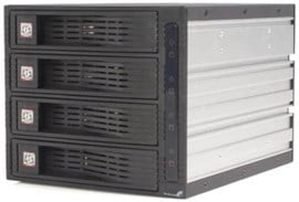 StarTech.com (4 Drive) Trayless Hot Swap (3.5 inch) SATA Mobile Rack Backplane Storage Drive Cage (Black)