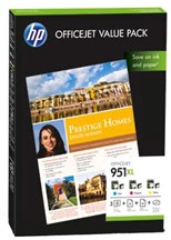 HP 951XL Officejet Value Pack + HP Professional Inkjet Paper A4 (25 Sheets) + HP All-in-One Printing Paper A4 (50 Sheets)