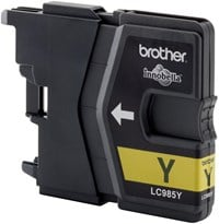 Brother LC985Y (Yield: 260 Pages) Yellow Ink Cartridge