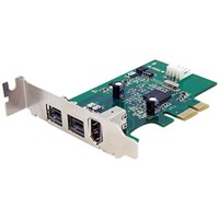StarTech.com 3 Port 2b 1a Low Profile 1394 PCI Express FireWire Card Adaptor