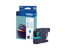 Brother LC123C (Yield: 600 Pages) Cyan Ink Cartridge