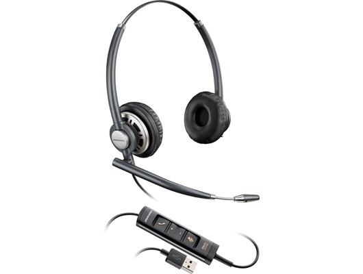 Plantronics EncorePro HW725 Over-the-Head Stereo Corded Headset