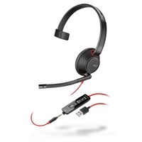 Plantronics Blackwire 5210 Corded USB-A Headset (Black) with 3.5mm Connection (Bulk Order)