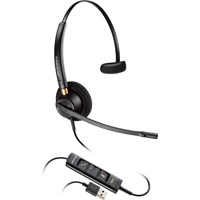 Plantronics EncorePro HW515 USB Over-the-Head Monaural Corded Headset with Noise Canceling Microphone