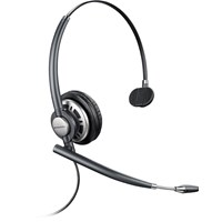 Plantronics EncorePro HW710D Over-the-Head Monaural Corded Headset with Noise Cancelling Microphone