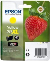 Epson Strawberry 29XL T2994 (Yield 450 pages) Claria Home Yellow 6.4 ml Ink Cartridge (Blister Pack)