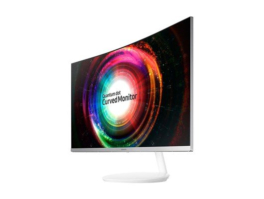 Samsung C32H711 (32 inch) LED Curved Monitor 3,000:1 250cd/m2 2560x1440 4ms HDMI DisplayPort (White) *Open Box*
